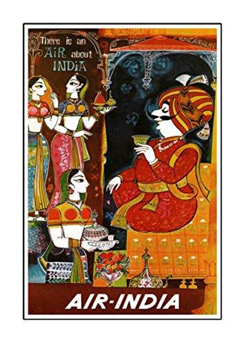 Air-Indien, A3Poster, Vintage, Foto, Grafik, Bild, Old Airways, Airways Foto, Airline, Reisen, schwarz und weiß, Foto, alt, retro, Druck, Oldschool