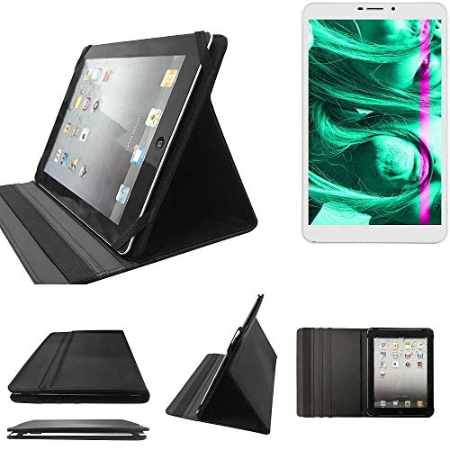 K-S-Trade Kiano Slimtab 8 3G Schutz Hülle Business Case Tablet Schutzhülle Flip Cover Ultra Slim Bookstyle Tasche für Kiano Slimtab 8 3G, schwarz. Kunstleder Qualitätsware