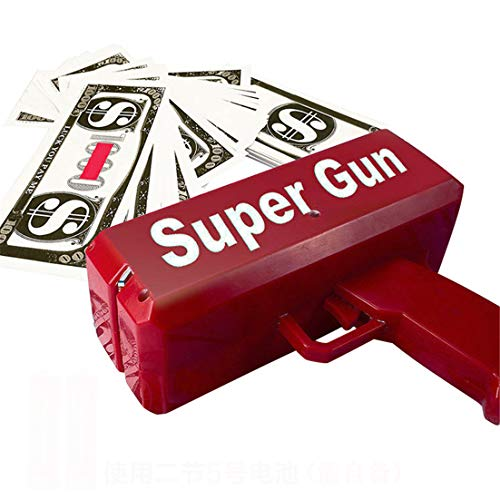 re Geldgewehr-Pistole schießen Spielzeug-Schuss Geld-Banknote Pistole ()
