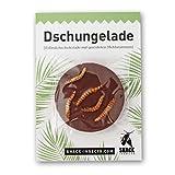 Insekten Schokolade 'Dschungelade', 3 Vollmilchtaler (3 x 10g) I essbare Insekten zum Essen