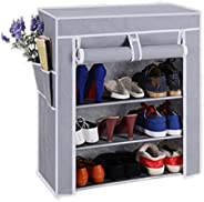 PAffy 5-Layer Cloth Cabinet Shoe Rack Organiser, 23.6x11.8x31.4-inches, Random Colour