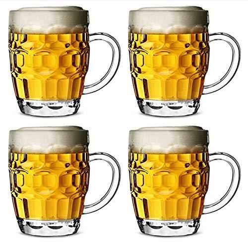 lykarbonat Plastik Mit Vertiefungen CE 568ml - 4-er Set Fassbier Gläser, Pint Glas, Pint Krug ()