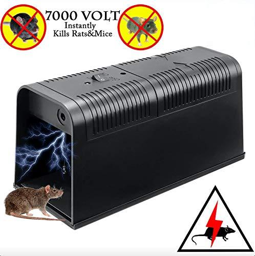 T-Raputa Trappola per Topi, utilizzati per catturare al Coperto e all\'aperto ratti, ratti, parassiti, roditori (Nero)