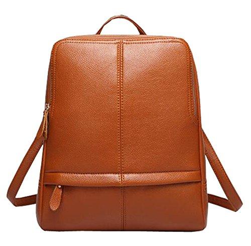 Lederrucksack Vintage Business Backpack Rucksack für Frauen Mädchen Braun
