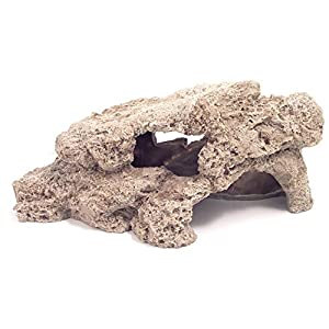 Rosewood Stackable Reef Rock Buff Aquarium Decor, Small
