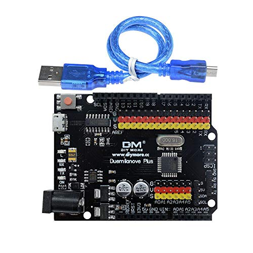 Generic Lanove - Scheda USB Duemilanove, 20 microcontrollori compatibili ATMega328P-PU con Arduino ic 2009 ATMega328P-PU h Arduino
