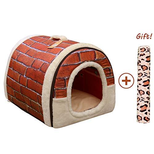 Cama/Caseta Perro Gato Interior 2 en 1