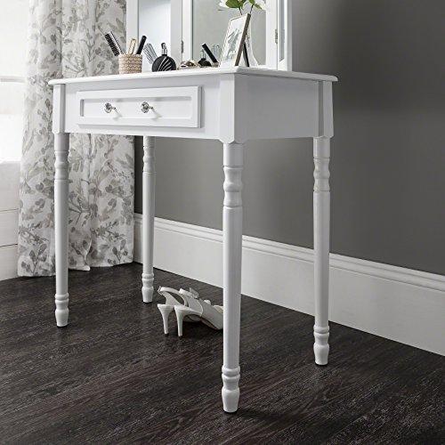 Sienna tavolino da toletta mirror sgabello shabby chic per camera da letto bagno con nocciolo - Toletta da camera ...