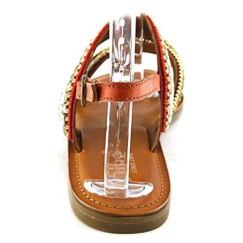 Diba Tango Femmes Cuir Sandale Coral Combo