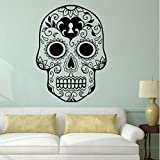 Hwhz 57 X 75 cm Halloween Skeleton Background Decorated Living Room Bedroom Wall Stickers A