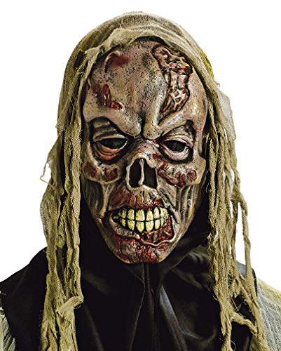 Horror-Shop Fetzen Zombie Maske für Halloween -