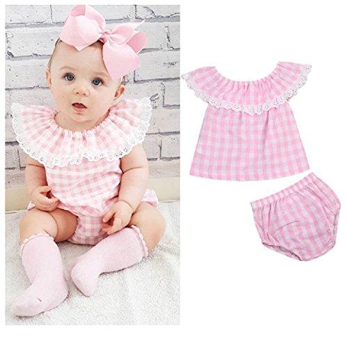 Trachten Shirt und Hose, Set, Gr. 60, 0-3 Monate, rosa/weiß kariert, 100% Baumwolle, Mädchen Dirndl, extrem süß, Tracht, Body, rosa 60