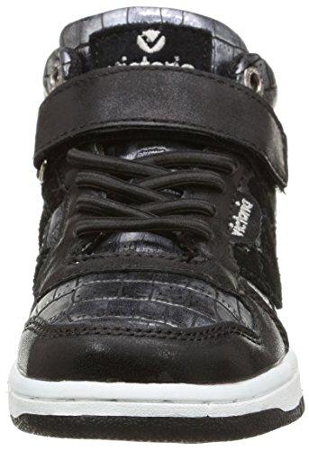 Victoria Coco, Baskets Hautes Mixte Enfant Noir (negro)