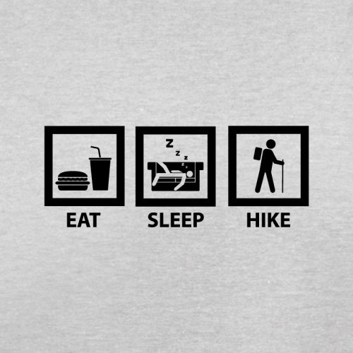 Eat Sleep Hike - Herren T-Shirt - 13 Farben Hellgrau