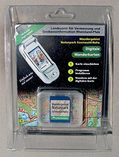 Wandergebiet Naturpark Soonwald-Nahe, 1 SD-KarteFür GPS-Empfänger (integriert oder mit Bluetooth-Schnittstelle) und SD-Slot mit Windows CE 3.0, Windows Mobile 2002, 2003, 2005, 2006. 1 : 25.000 u. 1 : 50.000