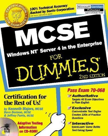 MCSE Windows NT Server 4 in the Enterprise For Dummies by Majors, Kenneth, Dermon III, Dave, Ferris, Jeffrey (1999) Paperback
