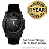 Konarrk V8 Bluetooth Smartwatch With Sim & Tf Card Support With Apps Like Facebook And Whatsapp Touch Screen Multi Language Android/Ios Mobile Phone Wrist Watch Phone With Activity Trackers And Fitness Band