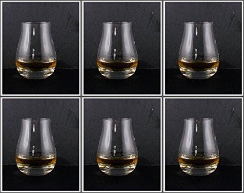 6 Original Spey Dram Gläser (Volumen 12cl - Höhe ca. 8cm) im Original Karton, kostenloser Versand (Glas Scotch Glencairn)
