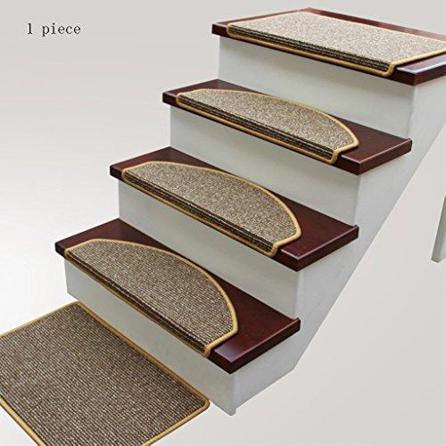 Tappeto polipropilene tappetino per scale antiscivolo battistrada - tappetino scala in legno massello ottomani (colore : 2, dimensioni : 65 * 24cm)