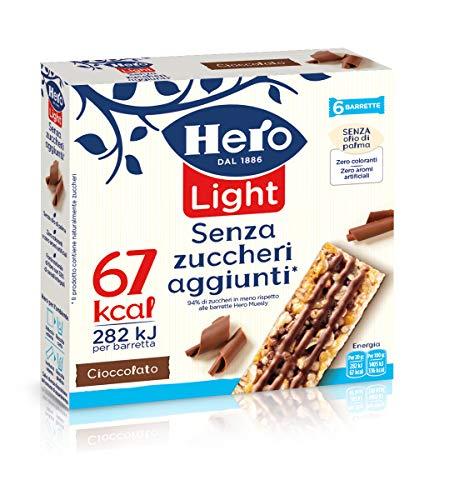 Hero Light Barrette ai Cereali Cioccolato 10 Confezioni da 6 X20 g