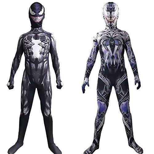 Spider-Man Venom Cosplay Kostüm Erwachsene/Kind Spider-Man Strumpfhosen Weihnachten Kostüme Cosplay Bodysuit (Für Venom-kostüm Erwachsene)