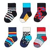 Happy Socks Stripes - Calcetines de regalo para niño (tallas de 0 a 12 meses)