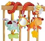 StillCool Baby Stroller Toy & Activity Spiral Clip On Pram & Pushair with Mirror Bell