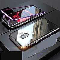 Miagon Magnetische Hülle für Galaxy S9,Glas Schutzhülle für Galaxy S9, Lila Metall Rahmen Vorderseite und Schwarz... preisvergleich bei billige-tabletten.eu