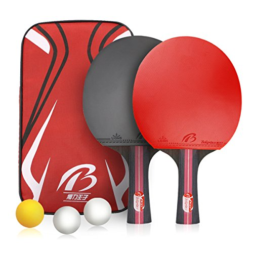 Weeygo Unisex Adult Tischtennis-Set, red, S