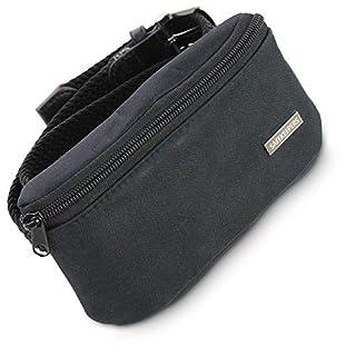 Women's Elastic Waist Narrow Plaited 25mm Webbing Canvas Belt–Stretch Women's Braided Belt–Nickel Free Buckle–PU Leather - black - Medium