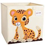 ELLEMOI Aufbewahrungsboxen für Kinderzimmer Große Kapazität Faltbar Aufbewahrung Spielzeug, Kleidung, Schuhe Aufbewahrungsbox (Leopard)
