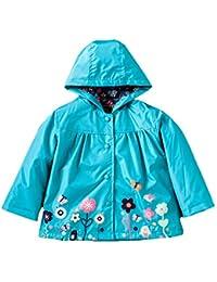 GudeHome Filles Manteau de pluie Veste été encapuchonné imperméable printemps imperméable 1 à l'âge de 6 ans