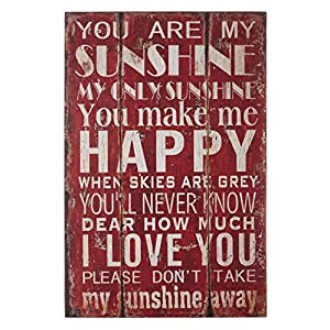 Premier Housewares 2800701 You are My Sunshine Targa da Parete in MDF