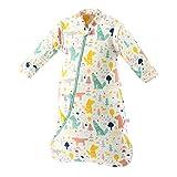 Baby Winter schlafsack Kinder schlafsack 3.5 Tog Schlafsaecke aus Bio Baumwolle Verschiedene Groessen von Geburt bis 4 Jahre alt (M/6-18Monate, Grünerwald)