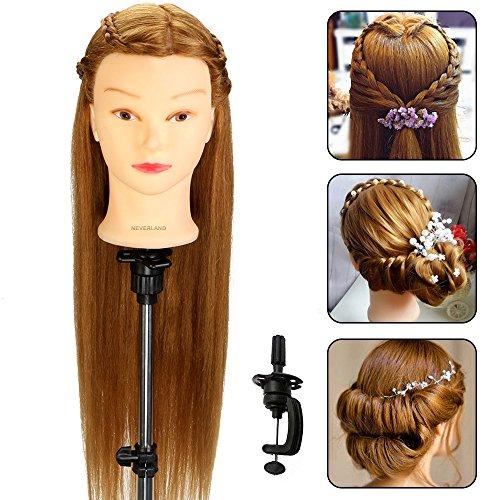 Neverland 26 Pouce 70% Cheveux Nutel Tête à coiffer Mannequin Tête Coiffure Avec Support Blond #04