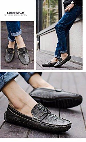 Les Chaussures En Cuir Haricot, Été Pied Tic, Paresseux, Chaussures, Crocodile, Des Souliers Ash
