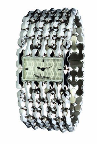Roberto Cavalli Ladies Oryza Analogue Watch R7253124015 with Silver Dial and Stainless Steel Case