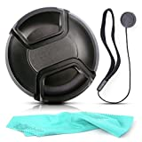 #9: Front Center P'' Lens Cap Cover Protector + Cap Keeper + Cleaning Cloth for Tamron 16-300mm f/3.5-6.3 Lens