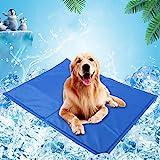Pet Dog Cat Summer Cool Mat, Pet Self Cooling Gel Pad, Pressure Activated, Anti-inflammatory, 100% Safe Non-Toxic Materials,