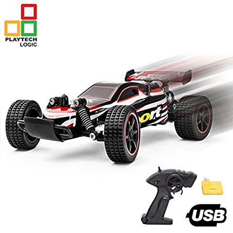 PTL® Fast RC Remote Control Car Racing Buggy Truggy Girls Boys Toys 2.4Ghz, 20kph Electric Radio Controlled Indoor Outdoor RC Cars for Kids 1:20 USB Rechargeable, RTR