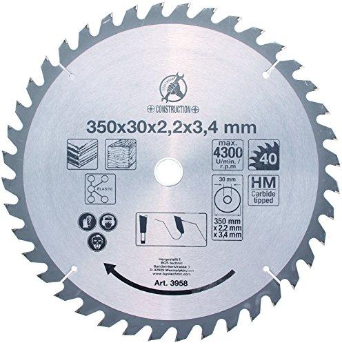 Preisvergleich Produktbild BGS Hartmetall-Kreissägeblatt, Durchmesser 350 mm, 3958