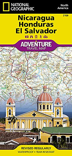 El Salvador, Nicaragua und Honduras: NATIONAL GEOGRAPHIC Adventure Maps