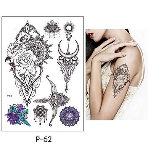 Mrkal obere bird decal adịgboroja ndị inyom Ụmụ nwoke mee n'onwe gị henna art art tattoo kere butterfly tree branch vivid nwa oge igbu egbu 15x21cmx4pc