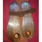 Devama The Divine Elegant And Exquisite Wooden Khadau/Chappal