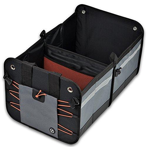 Kofferraumtasche | PKW-Klappbox ideal als Faltbox-Einkaufskorb & Kofferraum-Organizer fürs Auto | XXL & ultrastark in verschiedenen Farben mit 50 Liter Volumen (32x38x60cm) – von GLOBEPROOF®