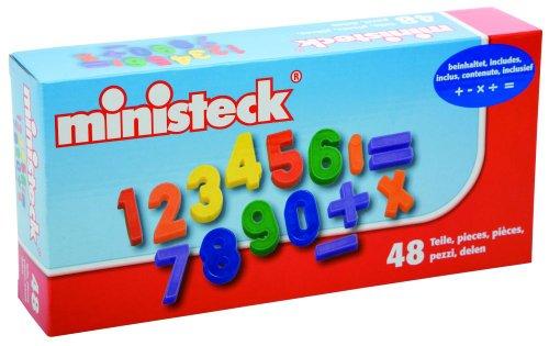 Ministeck 33716 - 48 Magnet Zahlen und Zeichen (Jungen Für Bastelpackungen)