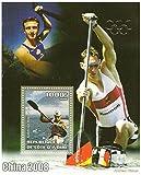 Rendimiento Van Koeverden en 2008 los Juegos Olímpicos de China hoja de sellos de menta con 1 sello / Costa de Marfil / 2008