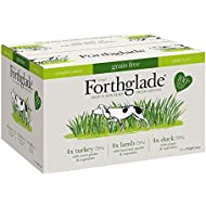 Forthglade 100% Natural Grain Free Complete Meal Meat Selection Dog Pet Food Multi-Pack 395g (12 Pack)