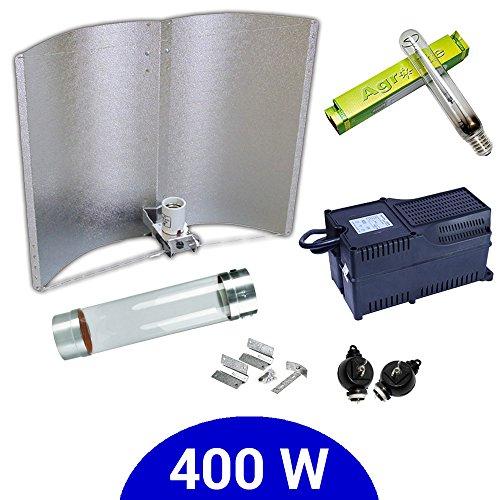 Kit d'éclairage 400 W SHP Agrolite + Ballast Agrolite classe 2 + coolTube + réflecteur Adjust-a-Wings Enforcer