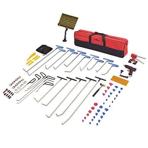 cangzhoushopping 87-TLG. Lackschadenfreier Ausbeulwerkzeugsatz PDR-Set Edelstahl Fahrzeuge Teile Werkstattausrüstung Werkzeuge Handwerkzeuge -